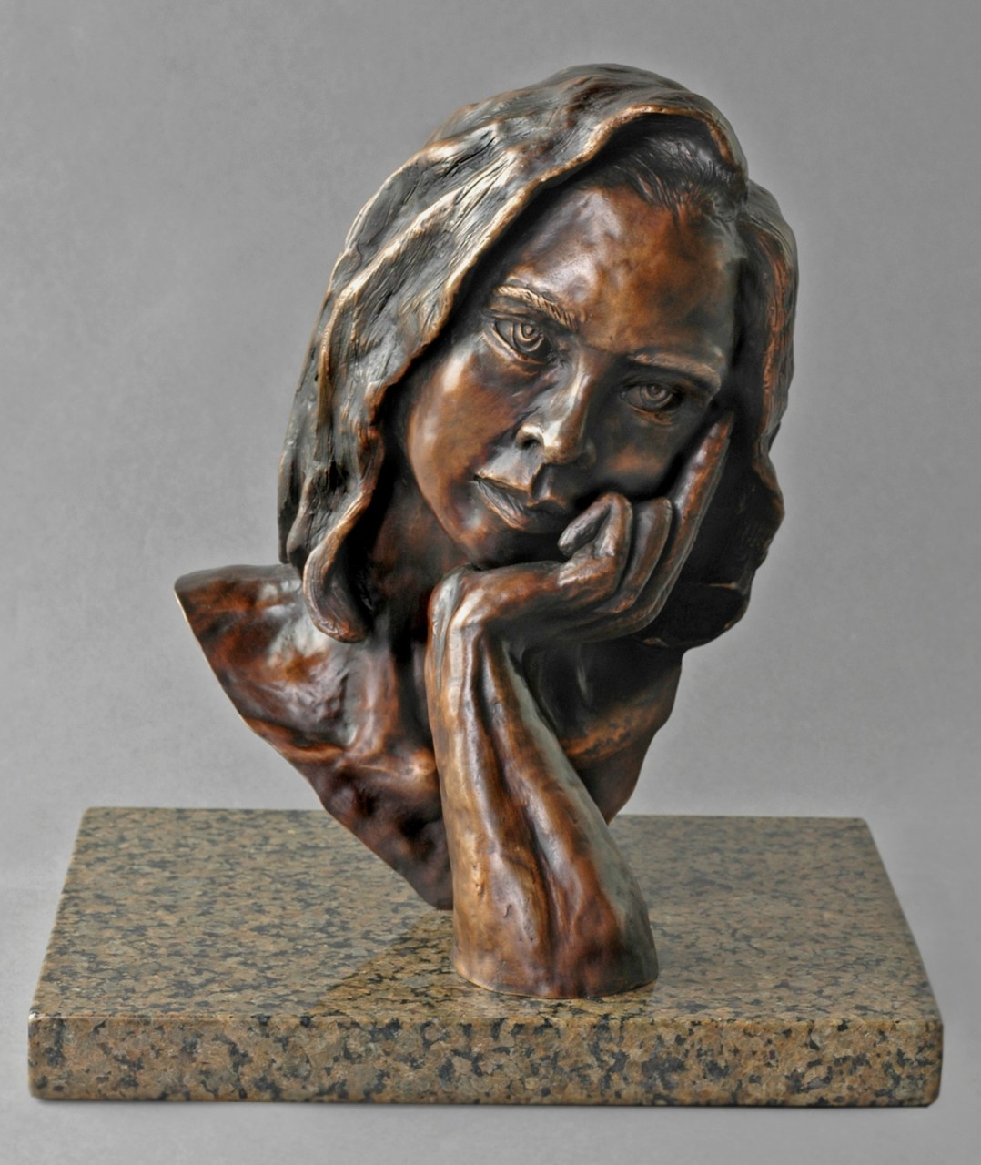 """The Thinker"" Cast Bronze - 12"" x 8½"" x 9"""
