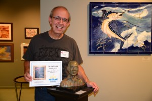 Eduardo Gomez wins second place in D'art for Art Show