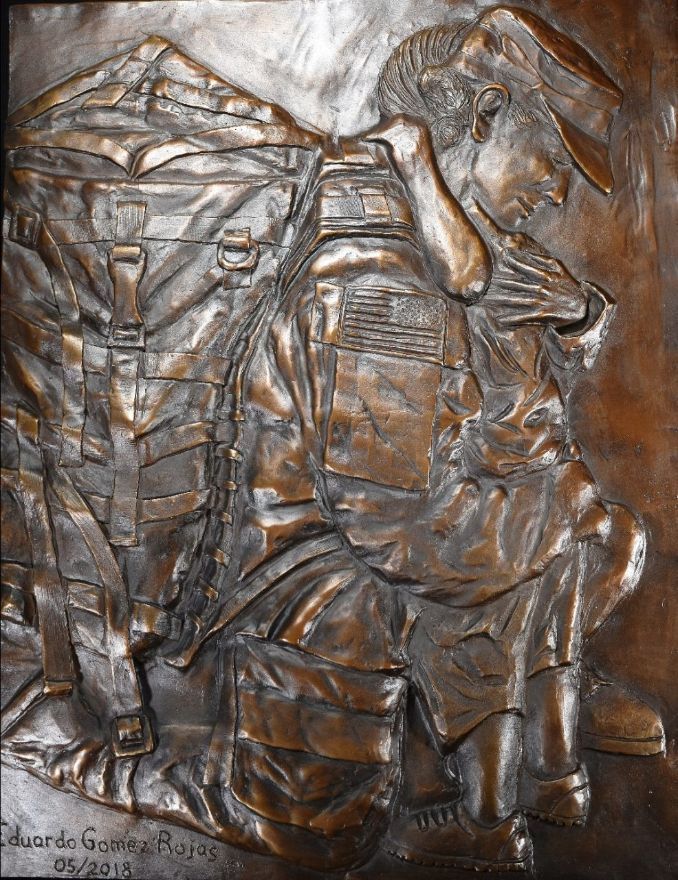 """Unconditional"" Memorial Stuart Florida Medium Relief Cast Bronze 2018 22""x 32""x 1.5"""
